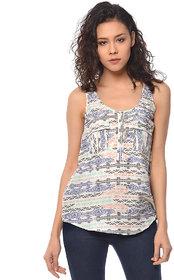 PURYS white  multi sleeveless top