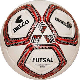 Belco Sports Diablo Red 3PLY 1.5M PU Futsal Ball Football Size 4