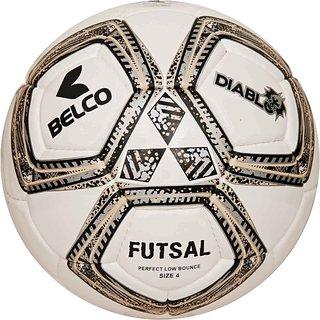 Belco Sports Diablo Silver 3PLY 1.5M PU Futsal Ball Football Size 4