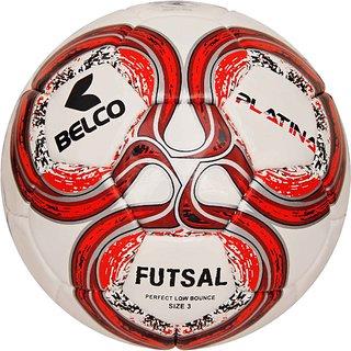 Belco Sports Platina Red 3PLY 1.5M PU Futsal Ball Football Size 3
