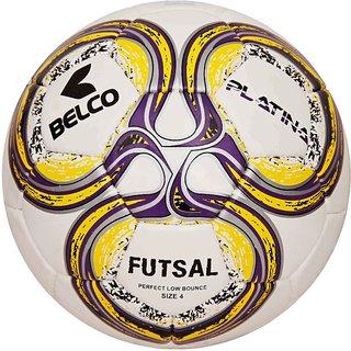 Belco Sports Platina Yellow 3PLY 1.5M PU Futsal Ball Football Size 3