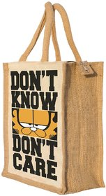 Nisol Dont Know Dont Care Cat Classic Printed  Lunch Bag  |  Tote  |  Hand Bag  |  Travel Bag  |  Gift Bag  |  Jute Bag