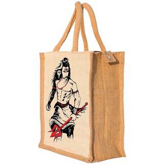 Nisol Angry Mahadev Shiva Classic Printed  Lunch Bag  |  Tote  |  Hand Bag  |  Travel Bag  |  Gift Bag  |  Jute Bag