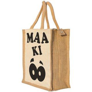 Nisol Aankh Classic Printed Lunch Bag   Tote   Hand Bag   Travel Bag   Gift Bag   Jute Bag