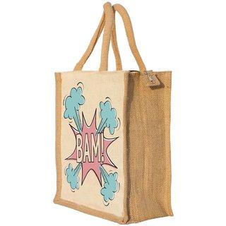 Nisol Bam Classic Printed Lunch Bag   Tote   Hand Bag   Travel Bag   Gift Bag   Jute Bag