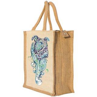 Nisol Artistic BullDog Classic Printed Lunch Bag   Tote   Hand Bag   Travel Bag   Gift Bag   Jute Bag