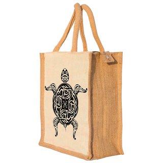 Nisol Artistic Turtle Classic Printed Lunch Bag   Tote   Hand Bag   Travel Bag   Gift Bag   Jute Bag