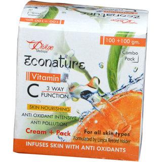 Econature Vitamin C cream+ pack 200 gm