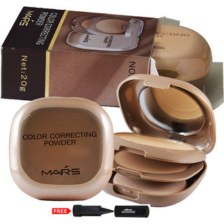 Mars Color Correcting Compact Powder P406-01 With Free Adbeni Kajal