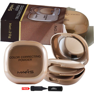 Mars Color Correcting Compact Powder P406-02 With Free Adbeni Kajal