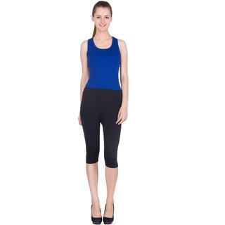 SBO Fashion Black Color Trendy Women's Capri 1567 Black