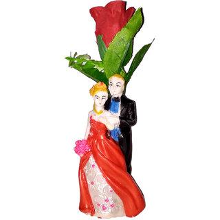 Valentine Special Red Rose Artificial Flower / Modern Art Loving Couple Proposal Gifts Handicrafts Showpiece