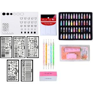 Royalkart Combo Kit Of Nail Art Stamping Image Plates(XY-COCO1 2 3 7 12) Nail Art Tools Silicone Soft Plain Mat