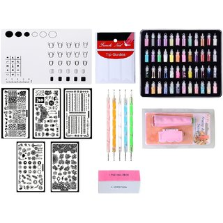 Royalkart Combo Kit Of Nail Art Stamping Image Plates(XY-COCO4 6 9 10 13) Nail Art Tools Silicone Soft Plain Mat