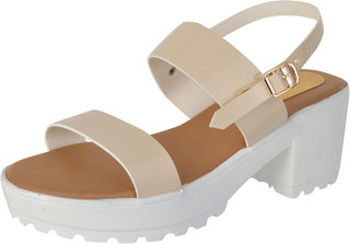 Fiteh Women Cream Heels