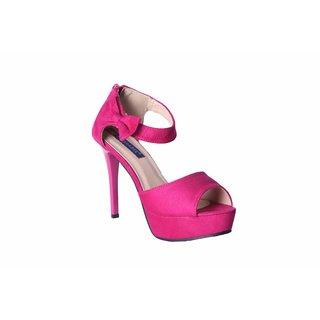MSC Women's Pink Slip on Synthetic Stilettos Heels