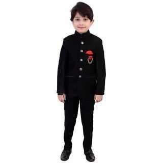 Arshia Fashions Boys Jodhpuri Coat Suit with Shirt and Pant set