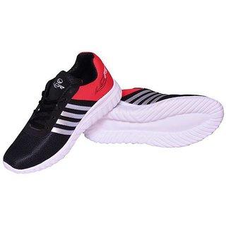 Buy Lancer Black Red Color Sports Shoes