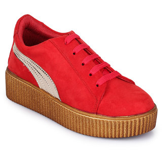 Fiteh Women Red Sneakers