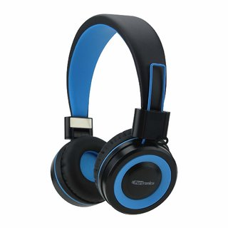 Portronics Muffs G POR-011 Bluetooth 4.2 Stereo Over-the-Ear Headphone with Mic (Blue)