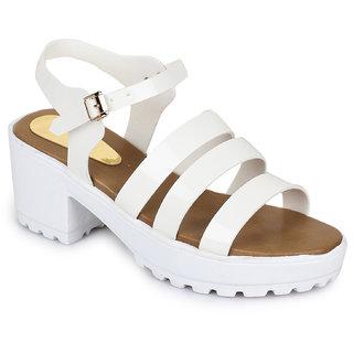 Fiteh Women White Heels