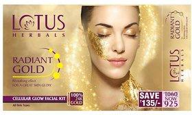 Lotus herbals radiant gold glow facial kit