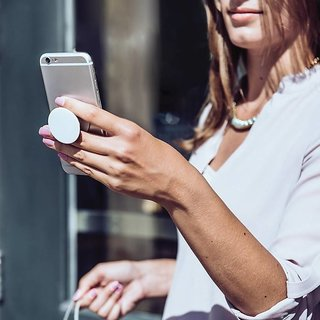 PopSockets Holder with Car Mount Mobile Hanger For Mobile Phone  Assorted Color and Design