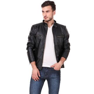 Leather retail Black Designer Jacket For Man