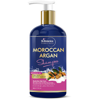 StBotanica Moroccan Argan Hair Shampoo With Organic Argan Oil, 300ml (No Sulphate, Paraben)