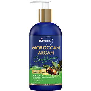 StBotanica Moroccan Argan Hair Conditioner 300ml - With Organic Argan Oil Vitamin E (No Sulphate Paraben)