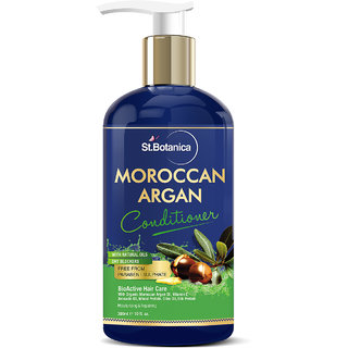 StBotanica Moroccan Argan Hair Conditioner 300ml - With Organic Argan Oil  Vitamin E (No Sulphate, Paraben)