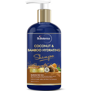 StBotanica Coconut Oil  Bamboo Hair Strengthening Shampoo - 300ml - No Sulphate, No Parabens, No Silicon