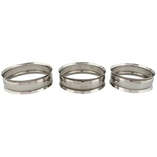 Stainless Steel Matka, Hot Pot Ring / Stand / Casserole Multipurpose Stand - Set Of 3