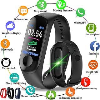 Tech Gear M3 Smart Band Wristband Bracelet Heart Rate Fitness Tracker Sleep Monitor Waterproof Watch M3 Fitness Band