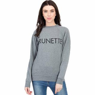 Kotty Women's Grey Round Neck Sweatshirt