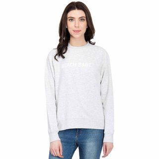 Kotty Women's Grey Round Neck Sweatshirt