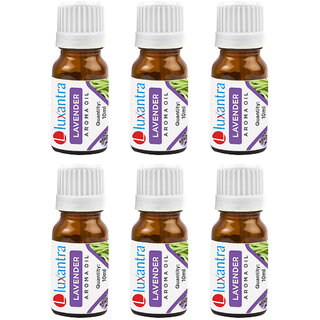 Luxantra  6 Lavender Aroma Oil for Aroma Diffuser Home Fragrance 10ml each Set of 6