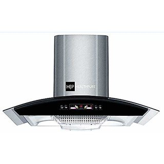 Health Pure Ultima Chimney 90 cm, Stainless Steel, Push Operation
