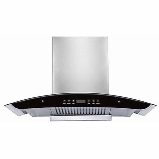 Health Pure Rex 60 cm 1200 m3/h Touch Control Auto-Clean Chimney with Curved Glass