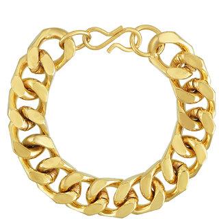 Real Gold Plated Brass, Super Heavy Macho, 9 Inch, 100Gms Weight Stylish Fashion Bracelet Men Wedding Party wear.