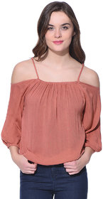 Purys Solid Pink String top