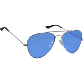 Derry Blue Aviator Unisex Sunglasses