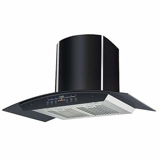 Health Pure Dizney Bk 90cm Chimney Touch Operation
