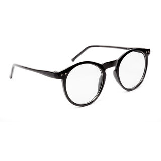 3c3307dcdb TheWhoop Black Round Spectacle Frame Eye Glasses For Men Women Boys Girls.  Transparent Nightwear Unisex Eyeglass