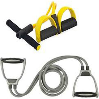 VK Family Fitness Home Gym Combo of Toning Tube and Soft Foam Tummy Trimmer Home Gym Combo  (100 - 120 kg)