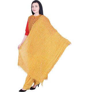 Nascency Women's Cotton Printed Yellow Kurti with patiyala and dupatta Set