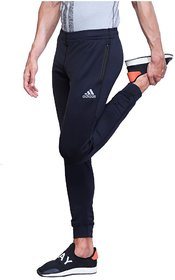 Adidas Navy Polyester Lycra Track Pant For Men