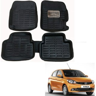 Auto Addict Car 3D Mats Foot mat Black Color for Tata Tiago