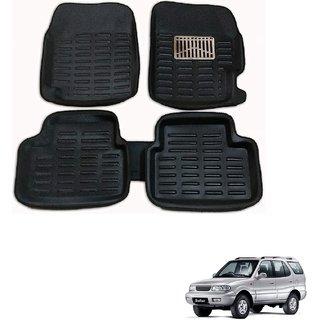 Auto Addict Car 3D Mats Foot mat Black Color for Tata Safari Dicor