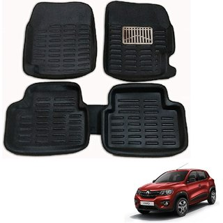 Auto Addict Car 3D Mats Foot mat Black Color for Renault kwid